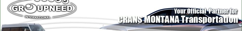 Airport transfer to Crans Montana with Limousine / Minibus / Helicopter / Limousine
